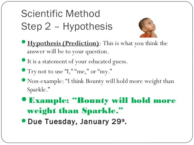 how to write an hypothesis for a science fair project A science fair project involves conducting an experiment to answer a question or solve a problem the key to a successful project is combining the correct use of scientific method with an original.