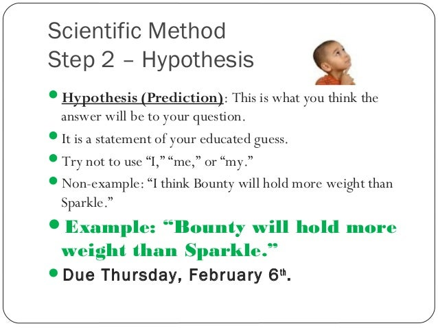 How to write a hypothesis for science fair project