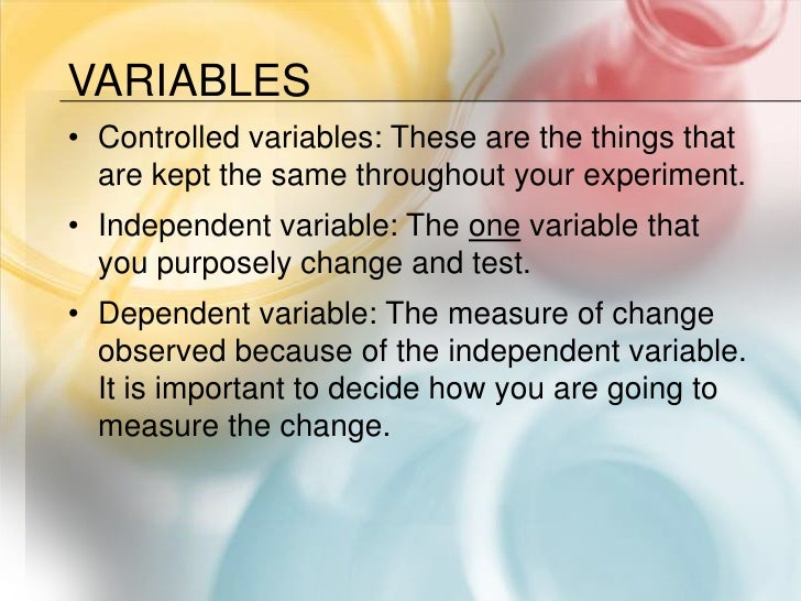 Science variables worksheet 5th grade