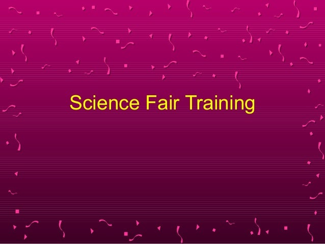 Science Fair Training