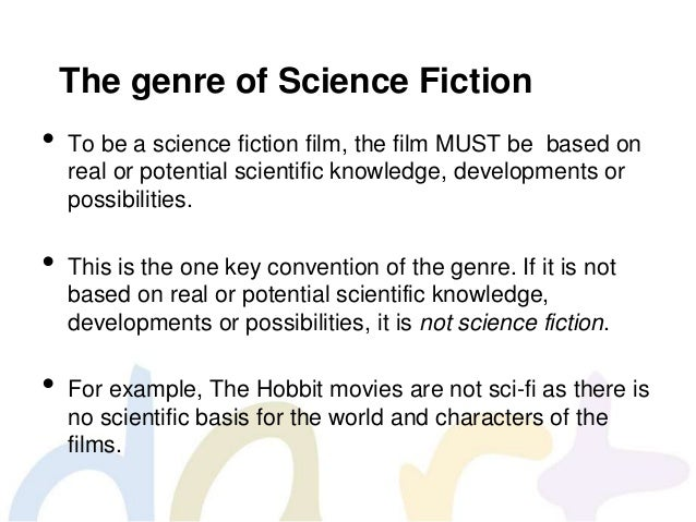 the literary genre of science fiction essay Science fiction is a genre in literature, cinema, and other forms of art, one of the varieties of fiction science fiction is based on fantastic assumptions (fiction.