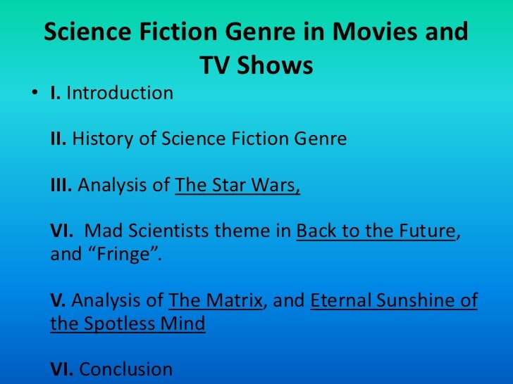 Science fiction genre in movies and tv shows