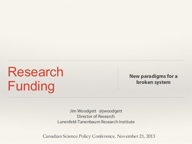Science funding panel at CSPC 2013