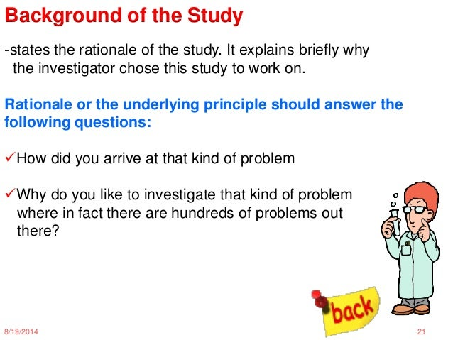 Justification Of The Study In Research
