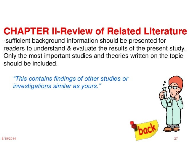 review of related literature and studies 2 essay Review of qualitative literature in quantitative and qualitative studies, pertaining to a literature review literature review essay.