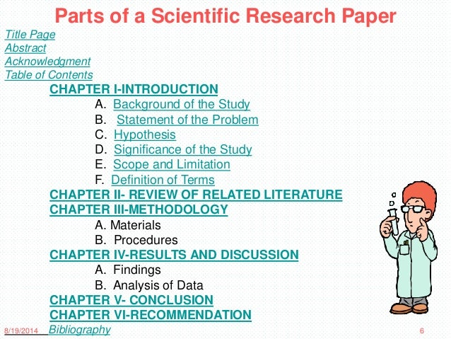 basic parts of a term paper One of the most important aspects of science is ensuring that you get all the parts of the written research paper in the right order.