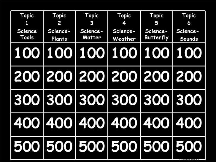 Science Jeopardy 4th Grading Week 5