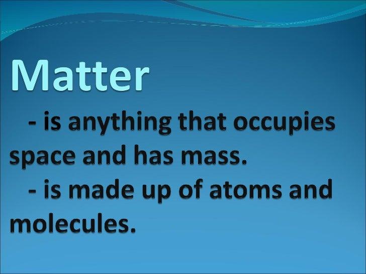 (Science) Matter