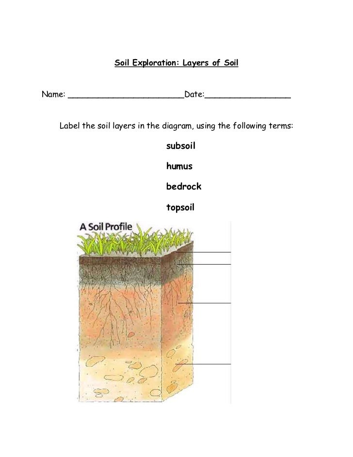 Label layers of soil images for What are the four layers of soil