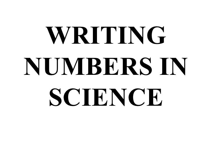 Scientific Number