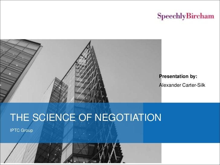 Science of negotiation