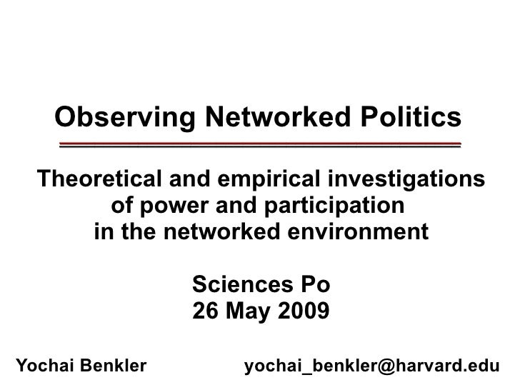 Observing Networked Politics ______________________________________________ ______________________________________________...