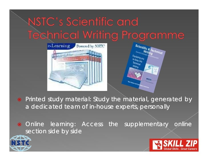 Scientific and technical writing