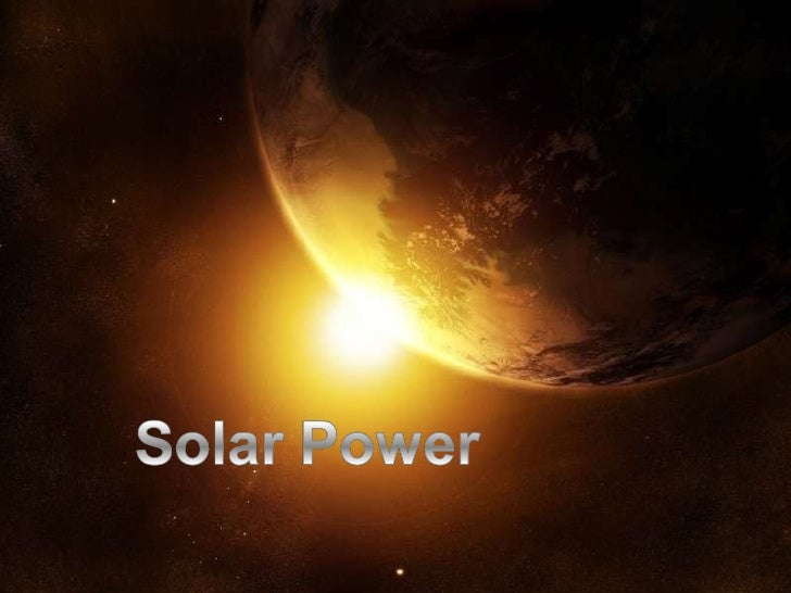 Science Project Power Point Solar
