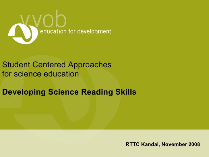 Developing students' reading skills in science education