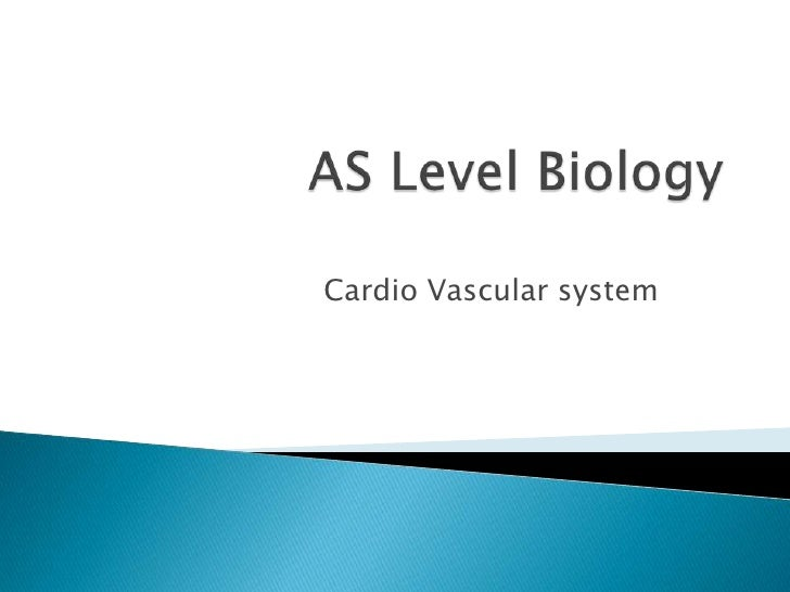AS Level Biology<br />Cardio Vascular system<br />