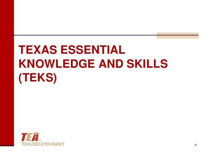 Image result for teks texas essential knowledge and skills