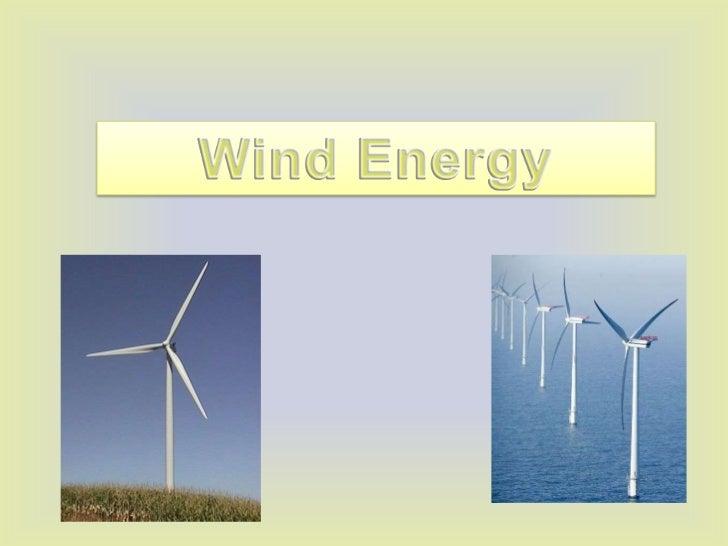 Wind Energy<br />