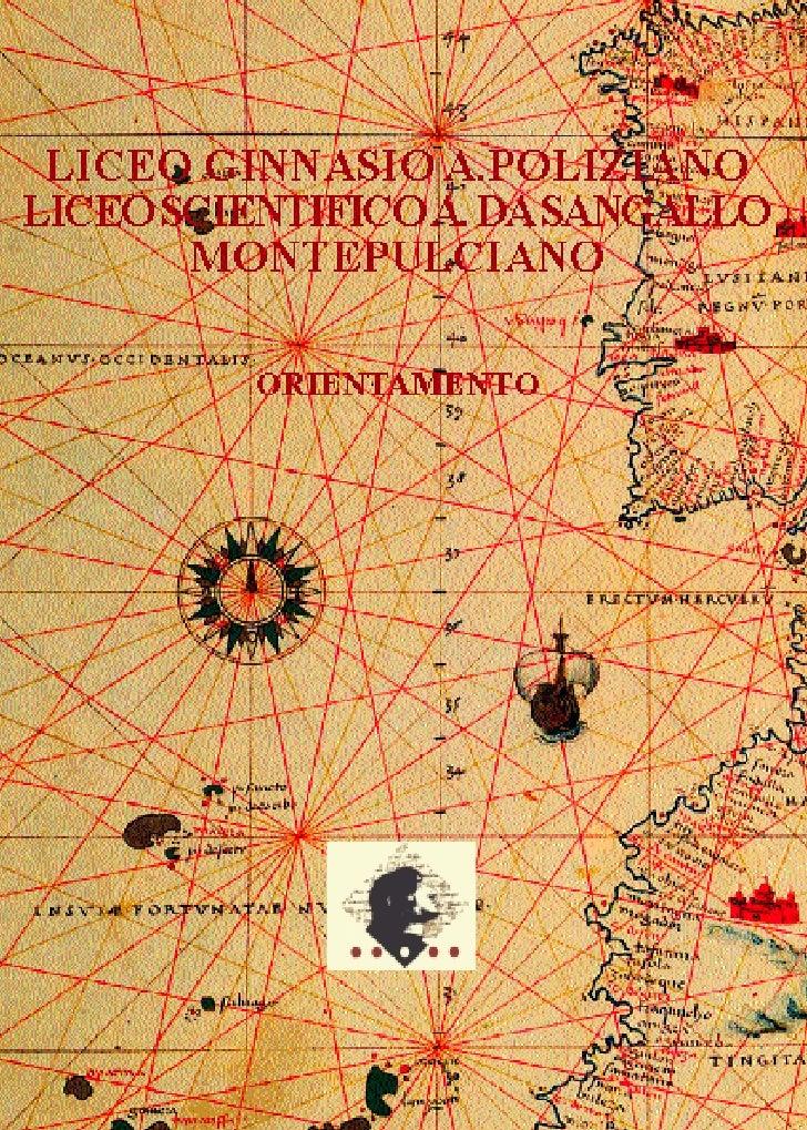 Presentazione del Liceo Scientifico di Montepulciano 2008/2009