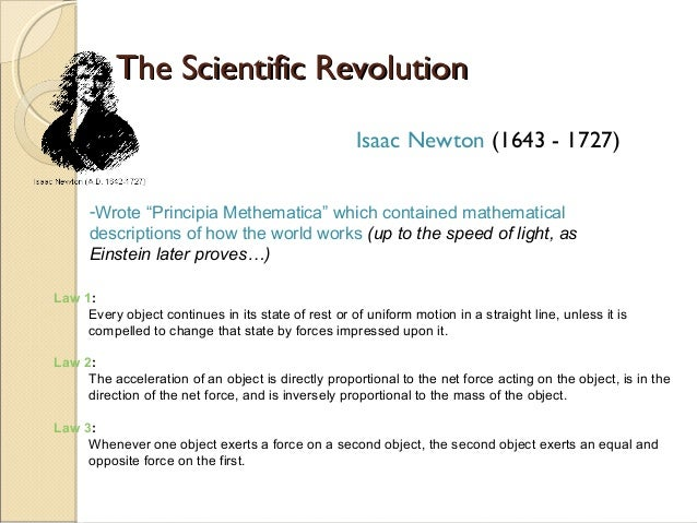 The scientific revolution and the enlightenment?