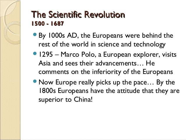 European scientific revolution essay