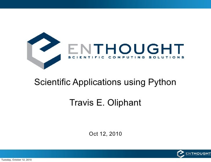 Scientific Applications with Python