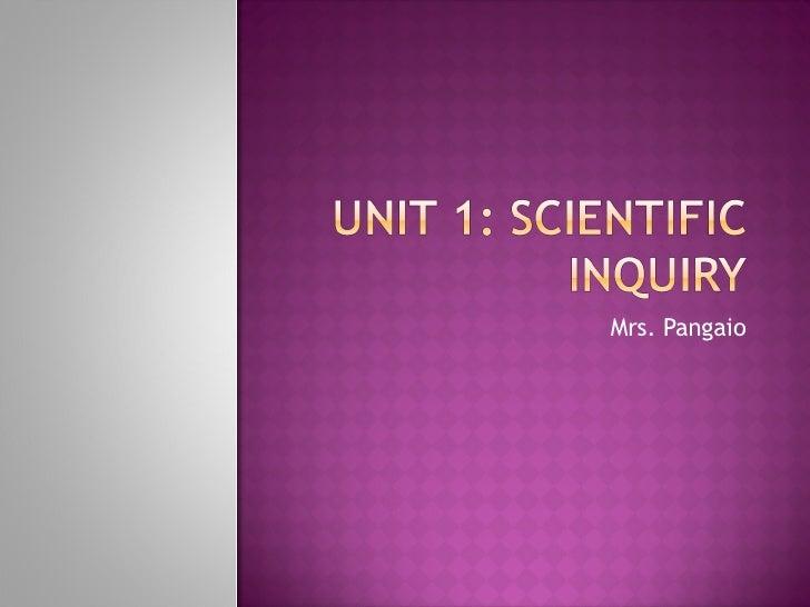 Intro to Scientific Inquiry