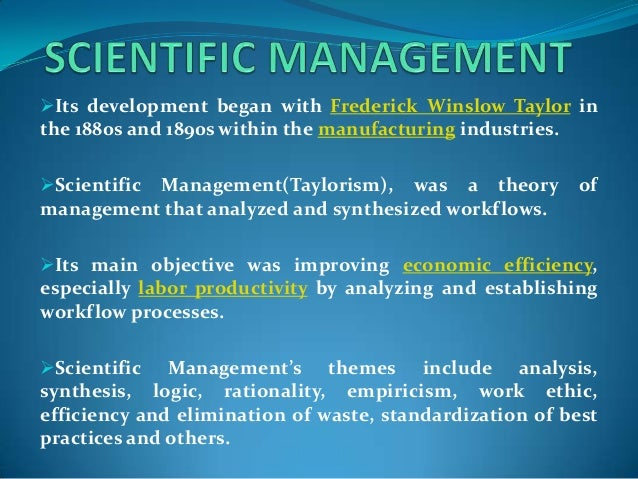 an analysis of frederick taylors scientific management and its followers The parenting of an analysis of frederick taylors scientific management and its followers adolescents and adolescents as parents: a developmental contextual perspective.