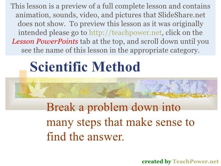 Scientific Method by TeachPower.net