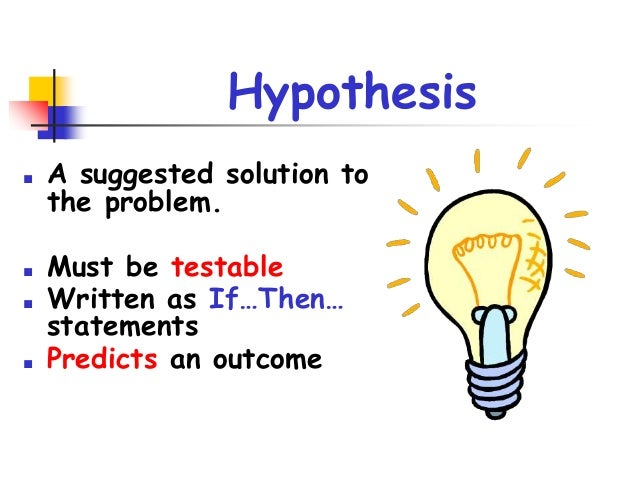hypothesis biology What is a real hypothesis a hypothesis is a tentative statement that proposes a  possible explanation to some phenomenon or event a useful hypothesis is a.