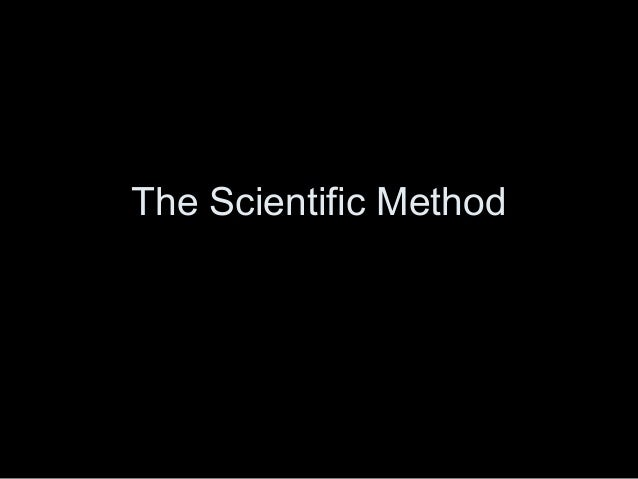 Scientific method PPT 2013 for notes
