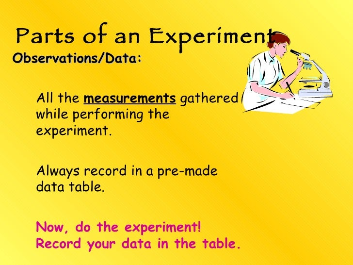 Scientific Data Table Record Your Data in The Table