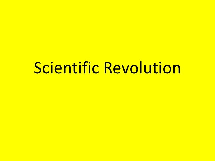 Scientific Revolution<br />