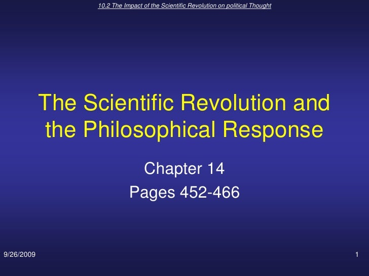 the significance and impact of the scientific revolution The impact of the scientific revolution on society and religion 1057 words | 5 pages over the course of the years, society has been reformed by new ideas of science.