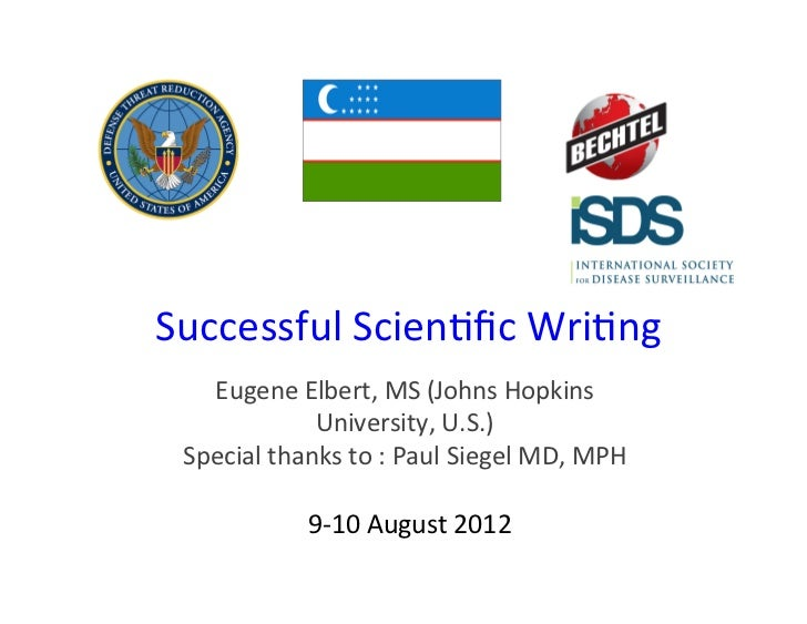 Principles of Scientific Writing for an International Audience