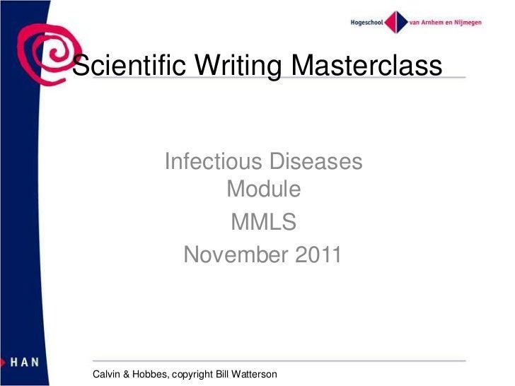Scientific writing masterclass 2011
