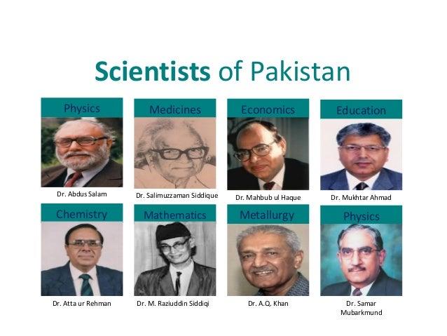 Scientists of Pakistan