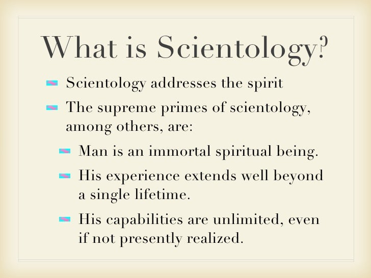 What is scientology ?
