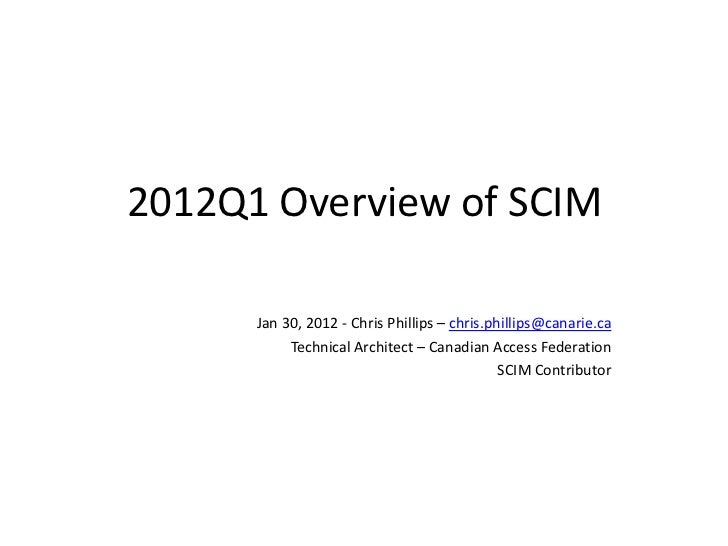 Scim2012 q1update chrisphillips