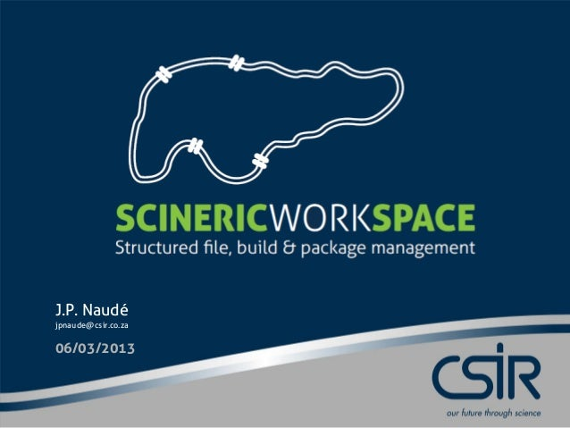 Scineric Workspace Technical Introduction
