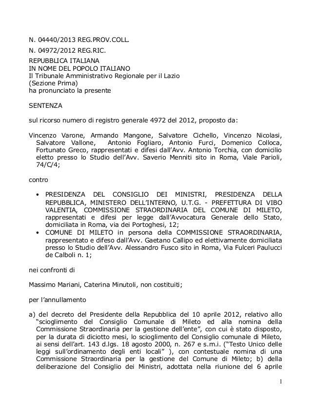N. 04440/2013 REG.PROV.COLL. N. 04972/2012 REG.RIC. REPUBBLICA ITALIANA IN NOME DEL POPOLO ITALIANO Il Tribunale Amministr...