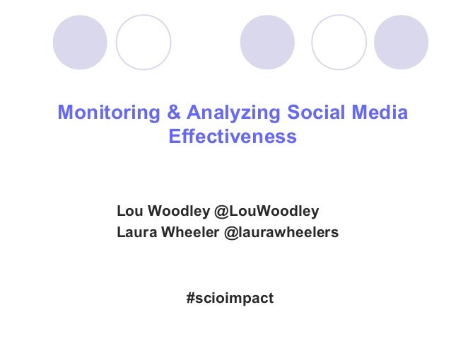 Monitoring & Analyzing Social Media           Effectiveness     Lou Woodley @LouWoodley     Laura Wheeler @laurawheelers  ...