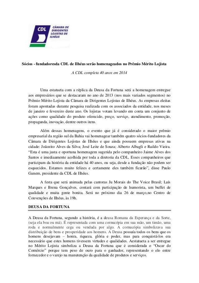 Sócios fundadores da CDL de Ilhéus serão homenageados