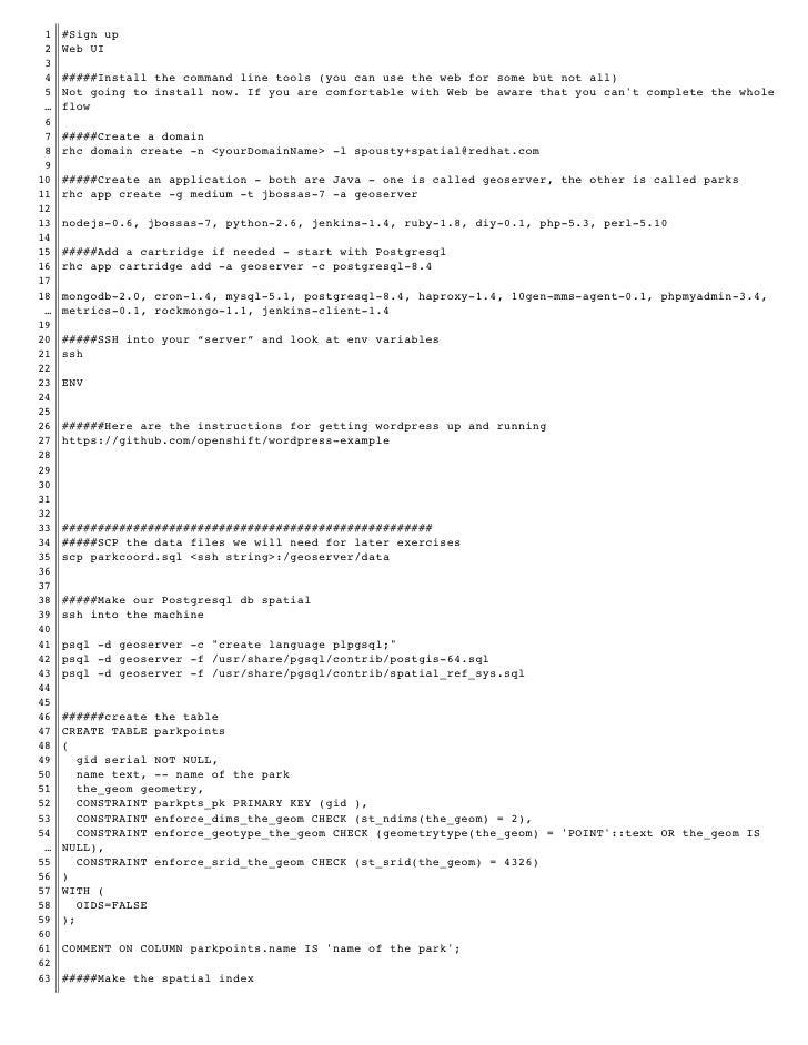 Script for the geomeetup presentation