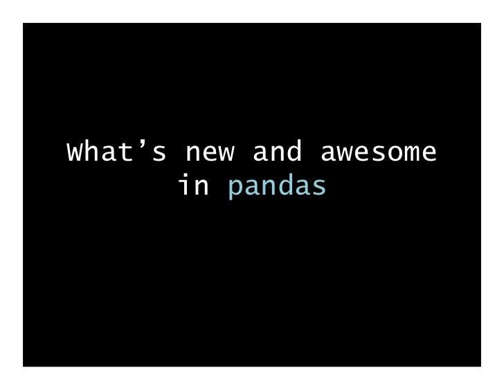 SciPy 2011 pandas lightning talk
