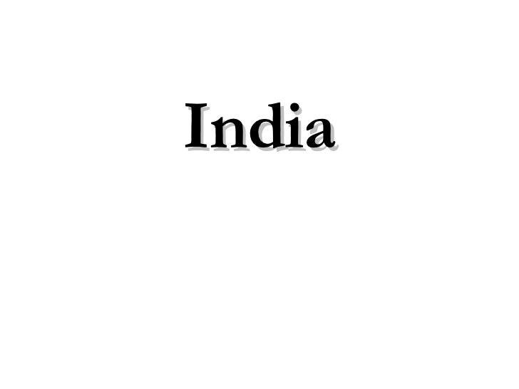 Scitc 2006 India 2005 And Future