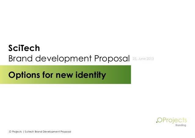 Scitech brand development - Medical Identity
