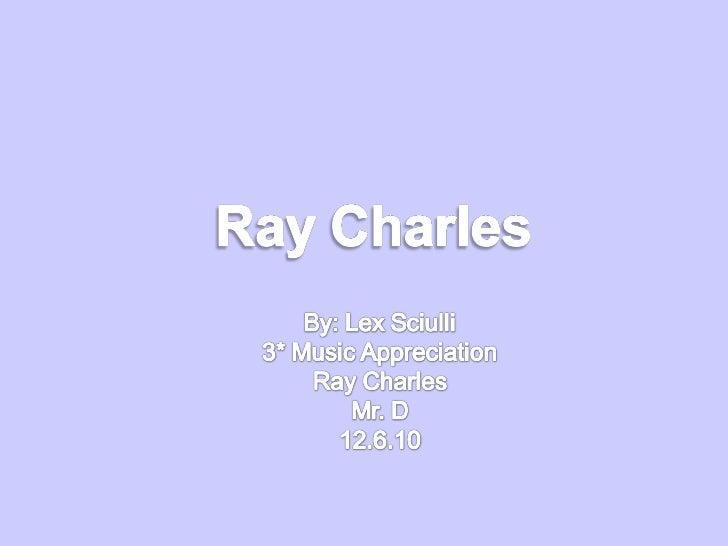 Sciulli raycharles1