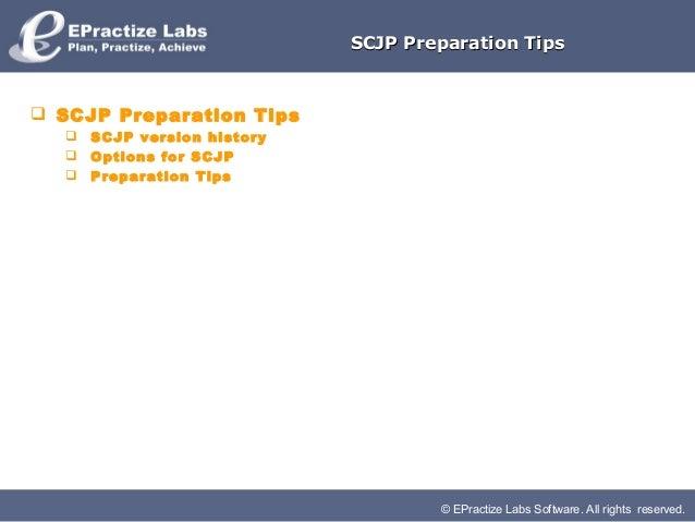 SCJP Preparation Tips