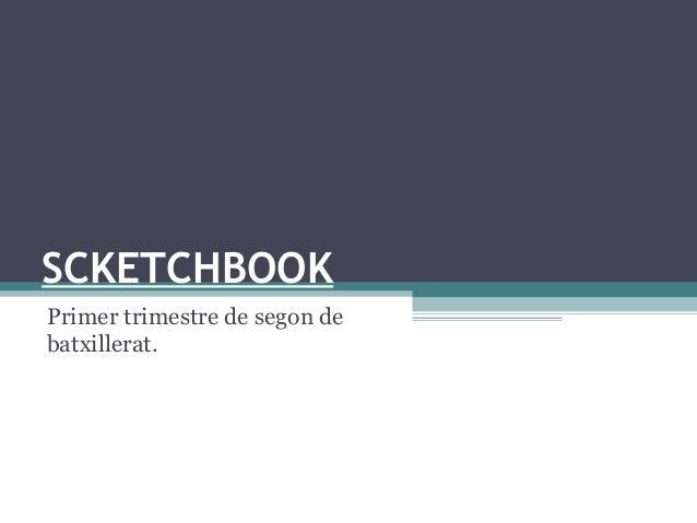 SCKETCHBOOK Primer trimestre de segon de batxillerat.